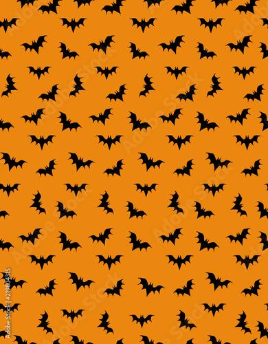 funny halloween illustration black bats vector pattern hand drawn