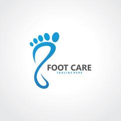 foot logo design template