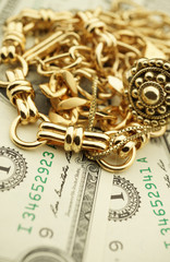 Gold Jewelry and Money