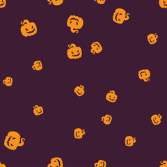 Gourd Halloween pattern seamless color