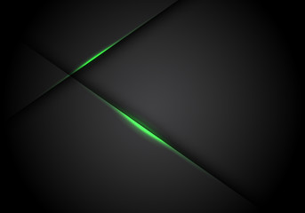 Obraz Abstract green light line cross shadow on black blank space design modern futuristic technology background vector illustration. - fototapety do salonu