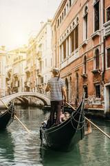 Gondelfahrt in Venedig Italien