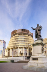 Wellington The Beehive New Zealand Parliament