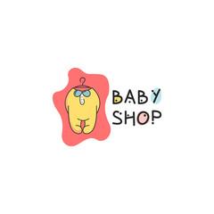 Baby shop logo vector