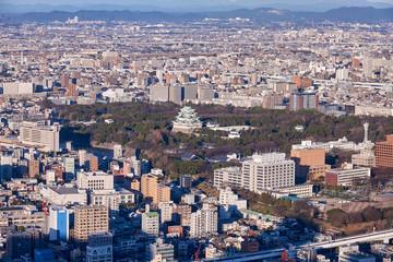 夕暮れの名古屋市街