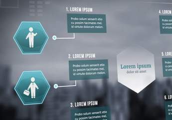 Infographic Layout with Green Accents