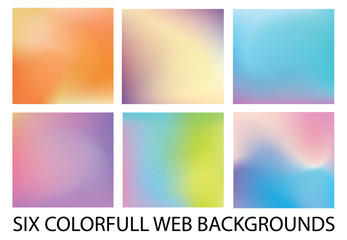 Set of six new modern gradient backgrounds
