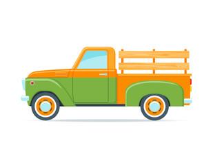 Retro farmer pickup truck