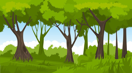 Summer forest. vector backround