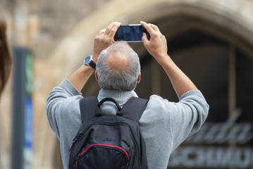 people photographing with the smartphone