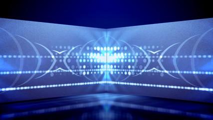 Neon tube games of kaleidoscopic spots