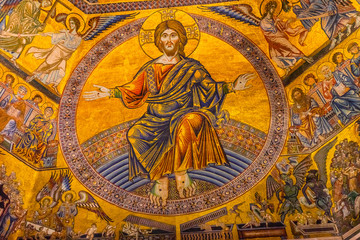 Jesus Christ Angels Mosaic Dome Bapistry Saint John Florence Italy
