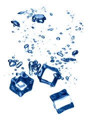 ice cube splash in water cold