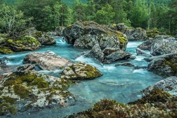Wall Mural - Scenic Glacial Rocky River