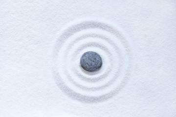Zen sand circle