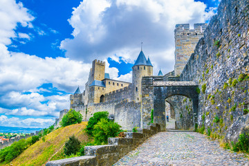 Fortification of Carcassonne, France Wall mural