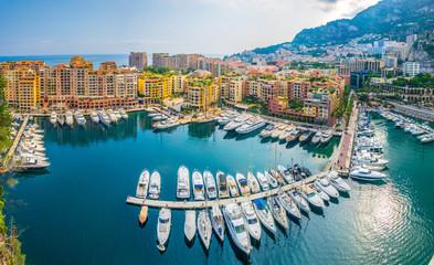 Port de Fontvieille in Monaco Fototapete