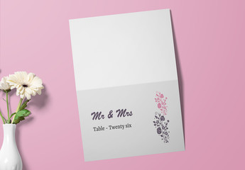 Place Card Layout with Decorative Elements
