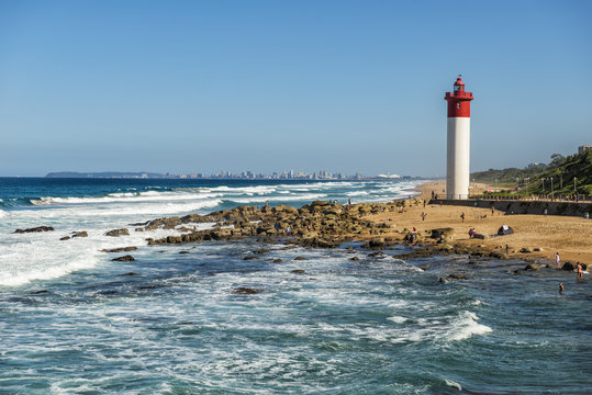 Durban City Lighthouse on a Bright Sunny Day