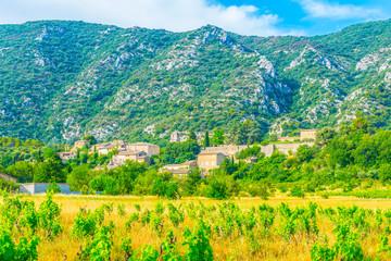 Maubec village in France