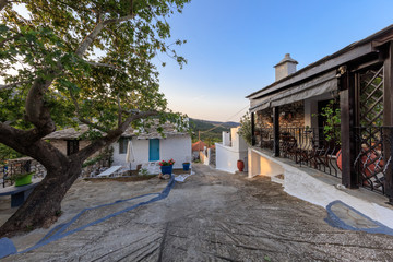 Old stone house in the village of Theologos. Thassos island, Greece