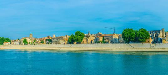 Riverside of Rhone in Arles, France