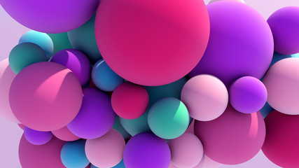 Colorful Floating Balls background