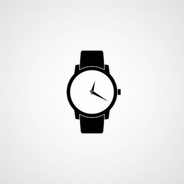 Classic wrist watch icon. Vector