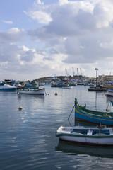Traditional boats in Marsaxlokk on Malta