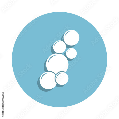 Bubbles Icon In Badge Style One Of Bathroom Collection Can Be Used For UI