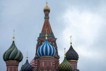 The Most popular Place in Moscow, Saint Basil  Cathedral, Russia