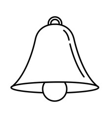 Bell outline icon vector alarm