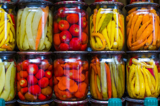 canned vegetables in cans for storage