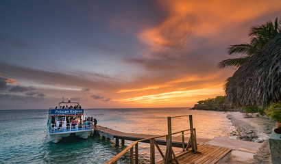 Sunset on a west coast sail  Curacao Views in the caribbean