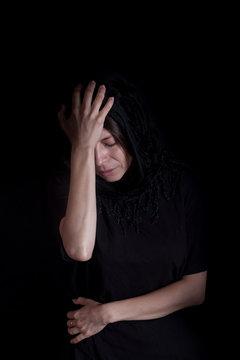 Beautiful woman depressed
