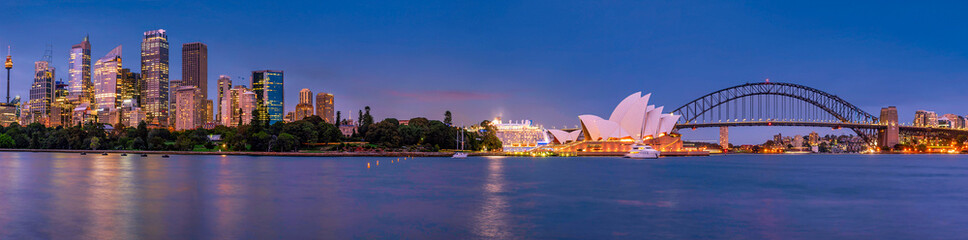 Printed roller blinds Sydney Panorama of Sydney and the Opera House, Australia