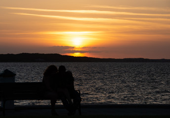 Sunset kiss