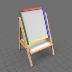 Easel whiteboard for children