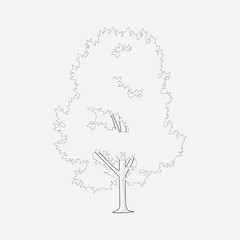 Elm tree icon line element. Vector illustration of elm tree icon line isolated on clean background for your web mobile app logo design.