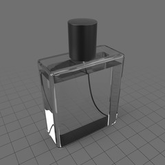 Perfume bottle with lid