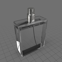 Perfume bottle without lid