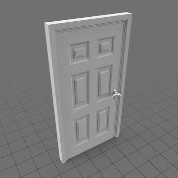 Six raised panel door