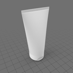 Wide flip cap cosmetic tube