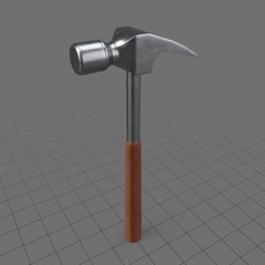 Wooden handled claw hammer