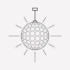 Disco ball icon line element. Vector illustration of disco ball icon line isolated on clean background for your web mobile app logo design.