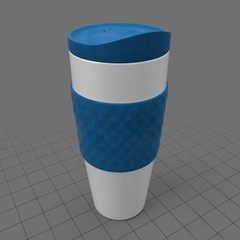 Portable reusable coffee cup