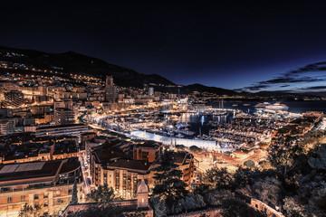 Early morning in Monaco harbor