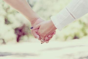 couple holding hands wedding marriage ceremony valenties day ring love nails polish varnish white shirt nature background