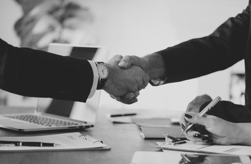 hand shake agreement contract recruitment loan investment peace business watch finance bank mortgage deal recruitment black and white