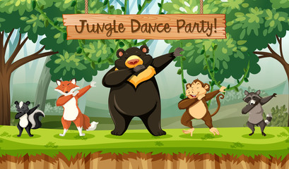 Jungle dance party animals